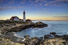Portland Head Light is a historic lighthouse in Cape Elizabeth