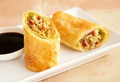 These flaky, restaurant-quality spring rolls are filled with a deliciously different filling of sun-dried tomatoes and artichoke hearts.  Oven baked instead of fried, these sophisticated appetizers are irresistible!