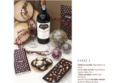 Cabaz 3 Chocolates, Chocolate Crack, Port Wine, Cocoa, Bottles, Balls, Chocolate, Brown