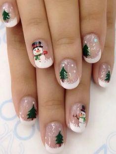 Christmas Gel Nails, Xmas Nail Art, Winter Nail Art, Holiday Nails, Winter Nails, Nail Art For Christmas, Christmas Christmas, Christmas Sweaters, Design Ongles Courts