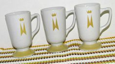 Vintage Marriott Pedestal Mugs by Homer Laughlin by GrammysGoodys