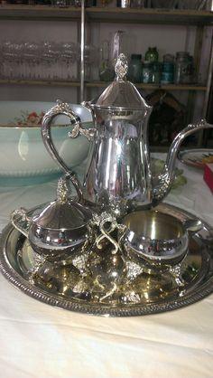 Fancy silver tea service