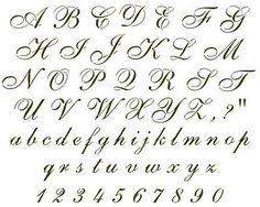 20 Best Cursive Font Images Letter Fonts Calligraphy Alphabet