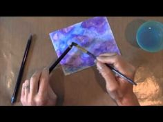 Create a Background with Inktense Pencils