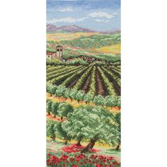 Anchor Counted Cross Stitch Kit Italian Olive Groves