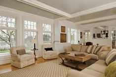 Captivating A New House Built To Look Like Grey Gardens. Cottage Style Living RoomLiving  ...