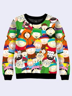 Men's male youthful 3D print sweatshirt Heroes of the show series South Park Long sleeve Made in Ukraine
