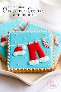 Delicious gluten-free Christmas cookie recipes for the holidays - Nomno . - Delicious Gluten Free Christmas Cookie Recipes for the Holidays – Nomnom – # - Fancy Cookies, Iced Cookies, Holiday Cookies, Cookies Et Biscuits, Cupcake Cookies, Cupcake Emoji, Icing Cupcakes, Iced Biscuits, Cheesecake Cupcakes