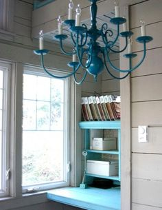 Painted chandelier