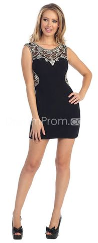 2014 Sexy Strapless Scoop Sheath Dress Embellished With  Rhithstones And Beads