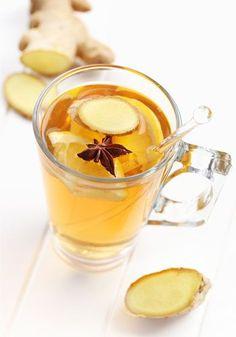 Receita de chá de gengibre com abacaxi
