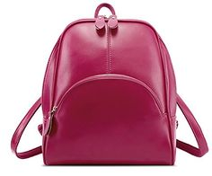 Zicac Womens Fashion Simple Style Leather Backpack Should…