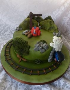 Hill walking and steam train cake - Cake by Extra Mile Icing