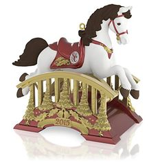 Santa Certified Rocking Horse Ornament 2015 Hallmark *** Learn more by visiting the image link.