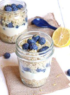 Blueberry Lemon Quinoa Parfait