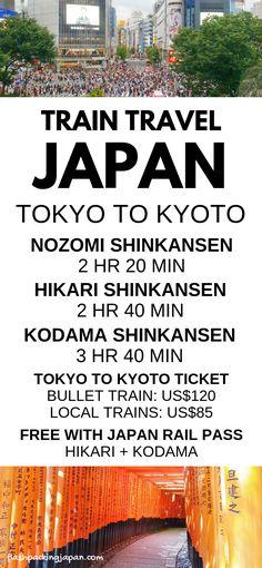 tokyo to kyoto bullet train shinkansen, cost, time. japan go. Tokyo To Kyoto, Tokyo Japan Travel, Japan Travel Tips, Asia Travel, Japan Japan, Kyoto Japan, Travel Ideas, Travel Photos, Kyoto Itinerary