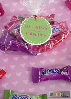 Hi Chew Valentine Printable for Kids - DIY Gift for Classroom
