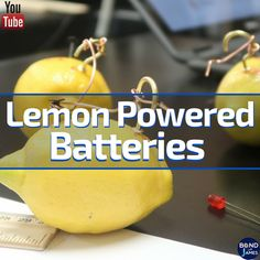 Lemon Powered Batteries Lab activity (FREE from The Home Depot and Discovery Education)