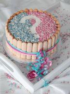 Wordt het een jongen of een meisje? Bij het zien van de roze of blauwe binnenkant na het aansnijden van deze #geboorte #taart, met roze en blauwe muisjes, zal iedereen het weten! Kijk voor het #recept op: http://www.oetker.nl/nl-nl/recept/r/geboorte-cake.html #kraamvisite