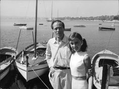 """timelessaudrey: """"Audrey and Mel in Cap d'Antibes,France,1956 """""""