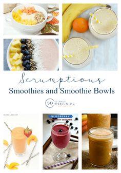Smoothie and Smoothie Bowl Recipes via Simply Designing