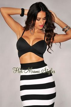 Black Cut-Out Bustier Crop Top