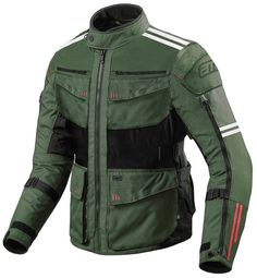 Moto Jacket, Military Jacket, Bike Equipment, Biker Gear, Motorcycle Gloves, Rugged Look, Men Clothes, Cycling Outfit, Green Jacket