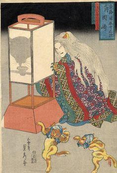 The Cat Witch  Sadahide  Ca 1860.