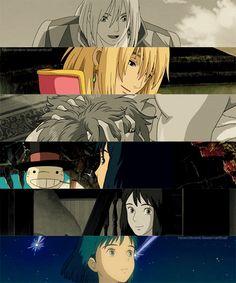 Hauru no ogoku shiro (Howl's Moving Castle) - 2004 Howl's Moving Castle, Studio Ghibli Art, Studio Ghibli Movies, Totoro, Howl Et Sophie, Japanese Animated Movies, Film D'animation, Hayao Miyazaki, Anime Shows