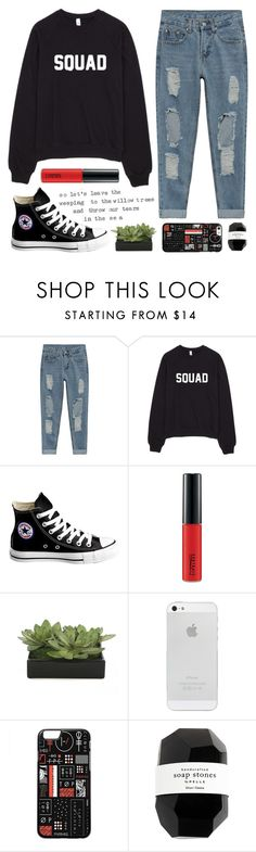"""10K GIVEAWAY (rtd)"" by faith-and-metanoia ❤ liked on Polyvore featuring Converse, MAC Cosmetics, Lux-Art Silks and Cassia"