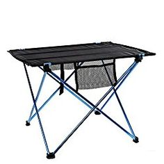 Colorfog Folding Picnic Table with Storage Bag for Outdoors Camping Hiking BBQ Garden Beach, Aluminum Alloy & Oxford Cloth