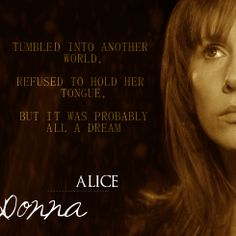 Doctor who fairy tale. Donna as Alice