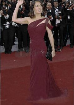 Celebrity Dresses-Elegant Asymmetry Celebrity Dresses