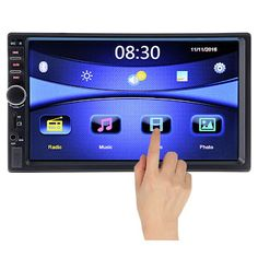 2 Din Bluetooth Car Multimedia Player Stereo Radio FM MP3 MP4 MP5 Audio Video USB Auto Automobiles subwoofer autoradio modulator (32618479104)  SEE MORE  #SuperDeals
