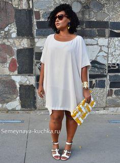 белый стиль одежды для полных