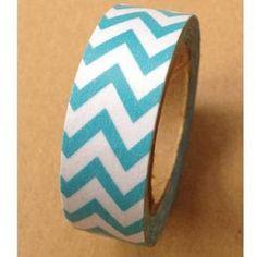Masking Tape - Rouleau Adhésif Chevron Turquoise