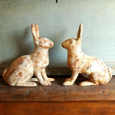 cast iron bunnies