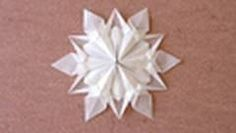 Origami Napkin Flower - YouTube