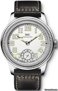 IWC Vintage Pilot's Watch Hand Wound $29,500 #IWC #watch #watches #chronograph celebrating 140 years of IWC