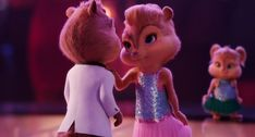 Alvin and Brittany (Alvin and the Chipmunks: The Road Chip) (c) 2015 Bagdasarian Productions, Regency Enterprises, Century Fox & Walt Disney Studios Alvin And Chipmunks Movie, The Chipettes, Happy Cartoon, Disney Plus, Walt Disney Studios, Instagram Highlight Icons, Anime Love, Tinkerbell, Disney Princess