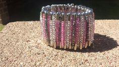 Pink pin cuff