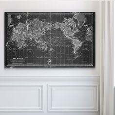 Wexford Home Vintage Wold Map VI - Premium Gallery Wrapped Canvas