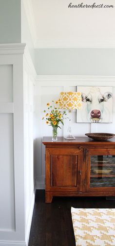 From 80's traditional to Modern Country..check out this dining room makeover at The Heathered Nest!