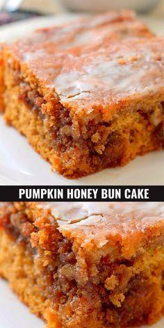 Mini Desserts, Fall Desserts, Just Desserts, Fall Dessert Recipes, Desserts With Honey, Fall Recipes, Honey Dessert, Breakfast Recipes, Honey Bun Cake