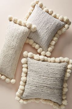Pommed Jute Pillow | Anthropologie