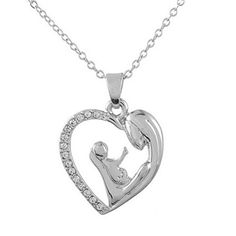 Xiehou Women's Mom Raise Child Up By Her Arms Rhinestone Open Heart Pendant Necklace Xiehou http://www.amazon.com/dp/B00VHNRG4W/ref=cm_sw_r_pi_dp_PXqhvb10T60AB