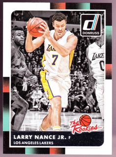 LOS ANGELES LAKERS 2015-16 DONRUSS THE ROOKIES LARRY NANCE JR. FREE SHIPPING #LosAngelesLakers
