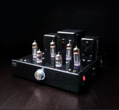 Glow Audio makes stylish vacuum tube amps with the tubes exposed so you can see them glow.  They also deliver a clean, warm sound with absolutely no crossover or distortion.