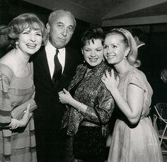 Debbie with Judy Garland and Agnes Moorehead.