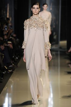 Manon Leloup Elie Saab Couture Spring 2013 show. Photo by WWD Staff